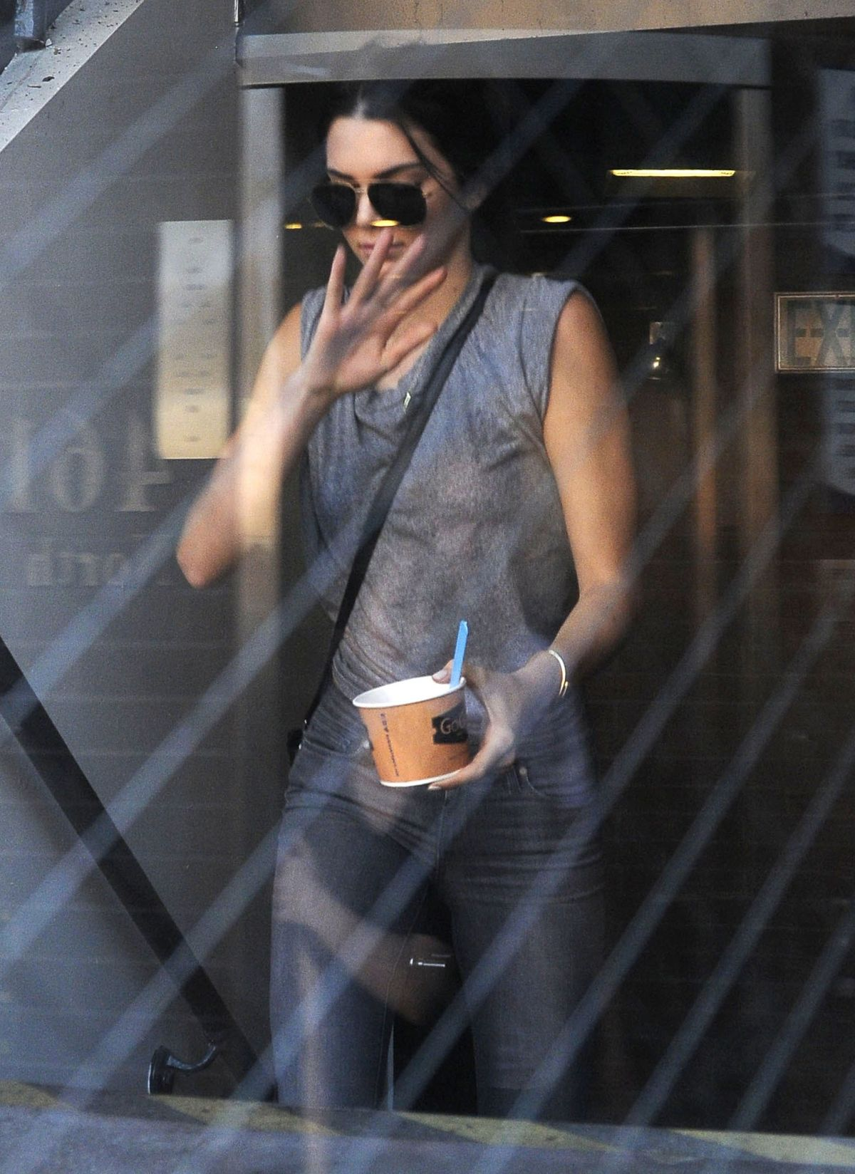 KENDALL JENNER Leaves Go Greek Yogurt in Beverly Hills 08/03/2015