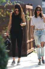 KENDALL JENNER Out fir Lunch at Melrose Aenue 08/21/2015