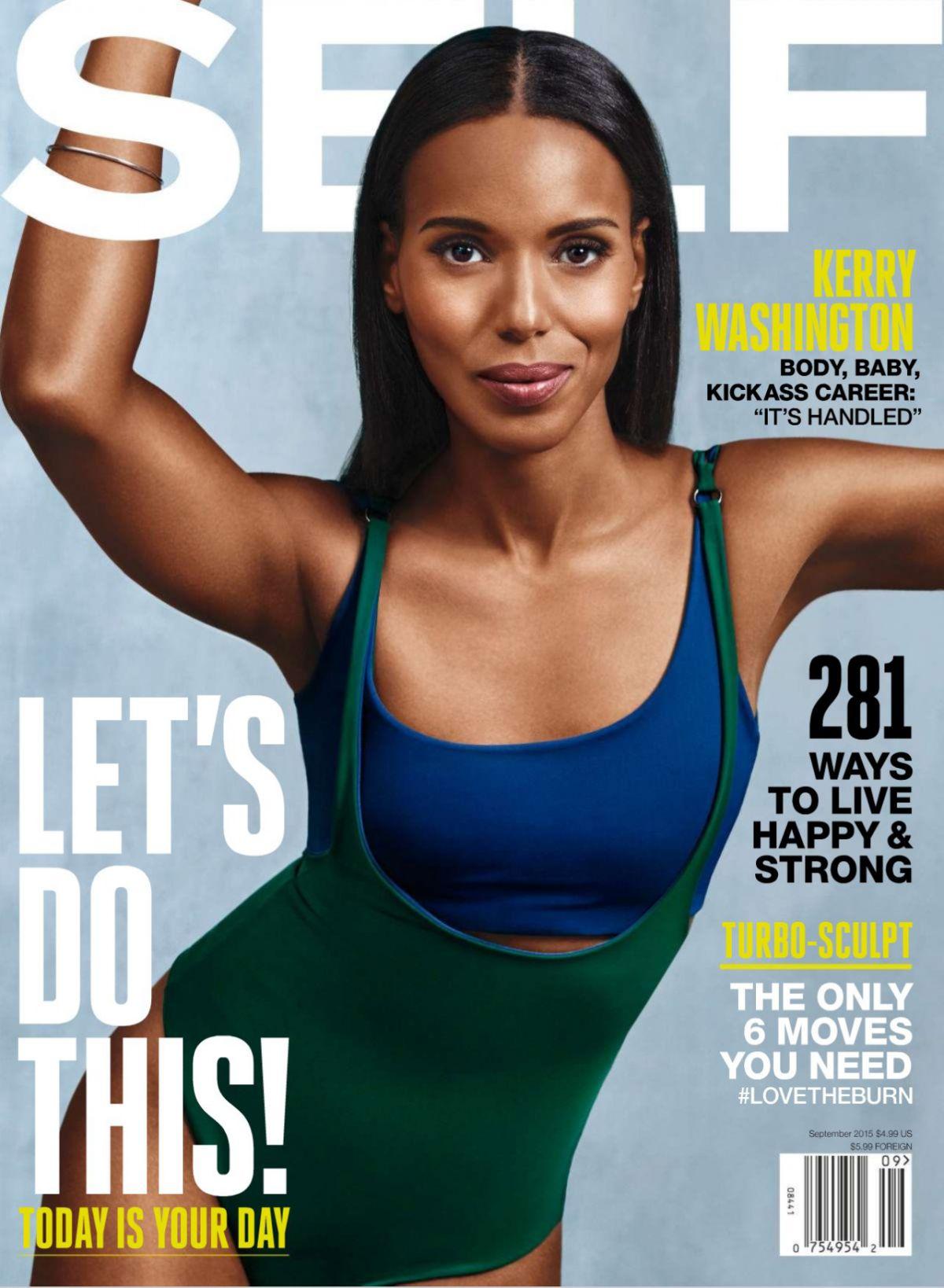 KERRY WASHINGTON in Self Magazine, September 2015 Issue