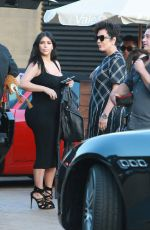 KIM KARDASHIAN Arrives at Nobu to Celebrate Kylie