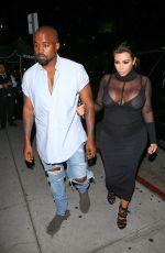 KIM KARDASHIANS and Kanye West Leaves Kylie