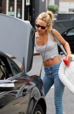 KIMBERLEY GARNER in Jeans Out and About in London 08/28/2015