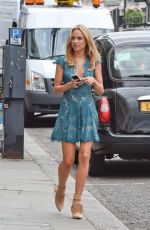 KIMBERLEY GARNER Out and About in London 08/17/2015