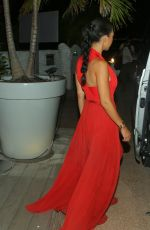 KOURTNEY KARDASHIAN Out for Dinner in St. Barts 08/21/2015