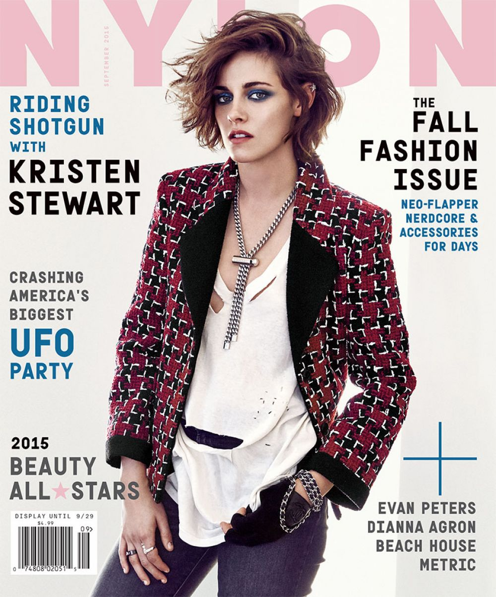 KRISTEN STEWART in Nylon Magazine, September 2015 Issue