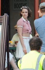 KRISTEN STEWART on the Set of the New Woody Allen Movie 08/25/2015