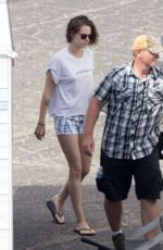 KRISTEN STEWART on the Set of Woody Allen
