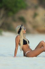 KYLIE JENNER and PIA MIA PEREZ in Bikinis at a Beach in Punta Mita 08/13/2015