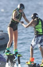 KYLIE JENNER Having Fun on Vacation in St. Barts 08/19/2015