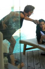 KYLIE JENNER in Swimsuit on the Set of a Photoshoot in St. Barts 08/18/2015