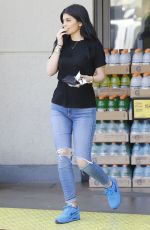 KYLIE JENNER Out and About in Los Angeles 08/07/2015