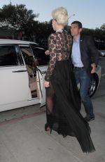 LADY GAGA Leaves Pump Restaurant in Los Angeles 08/26/2015