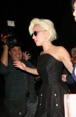 LADY GAGA Leaves Pump Restaurant in West Hollywood 08/24/2015