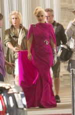 LADY GAGA on the Set of American Horror Story in Los Angeles 08/20/2015