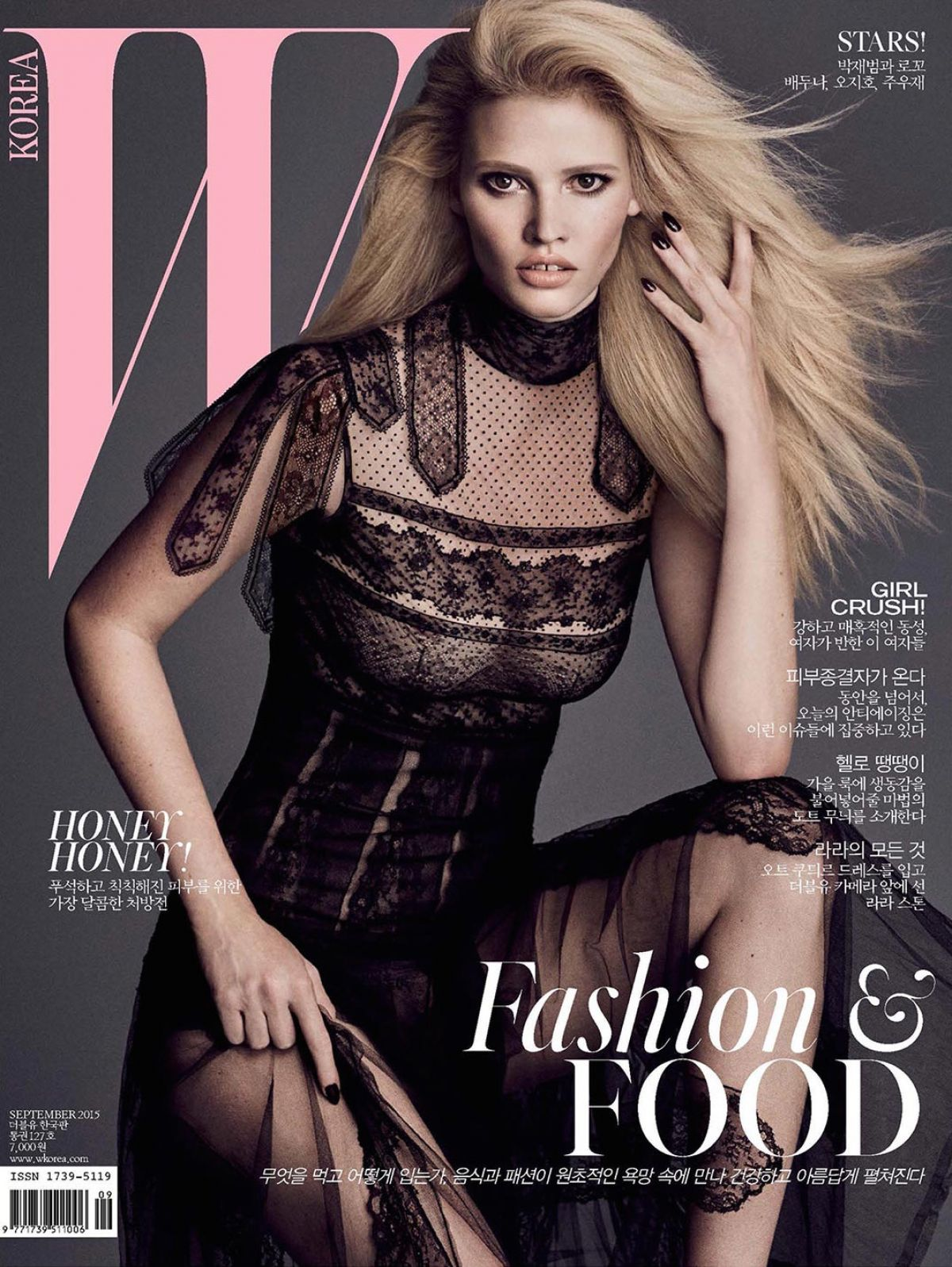 LARA STONE by Iango Henzi and Kuigi Murenu for W Magazine, Korea September 2015 Issue