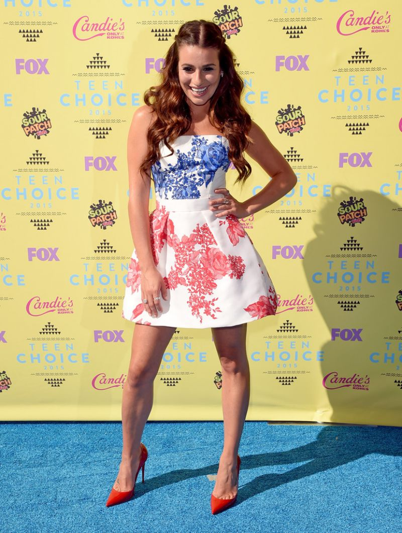 LEA MICHELE at 2015 Teen Choice Awards in Los Angeles