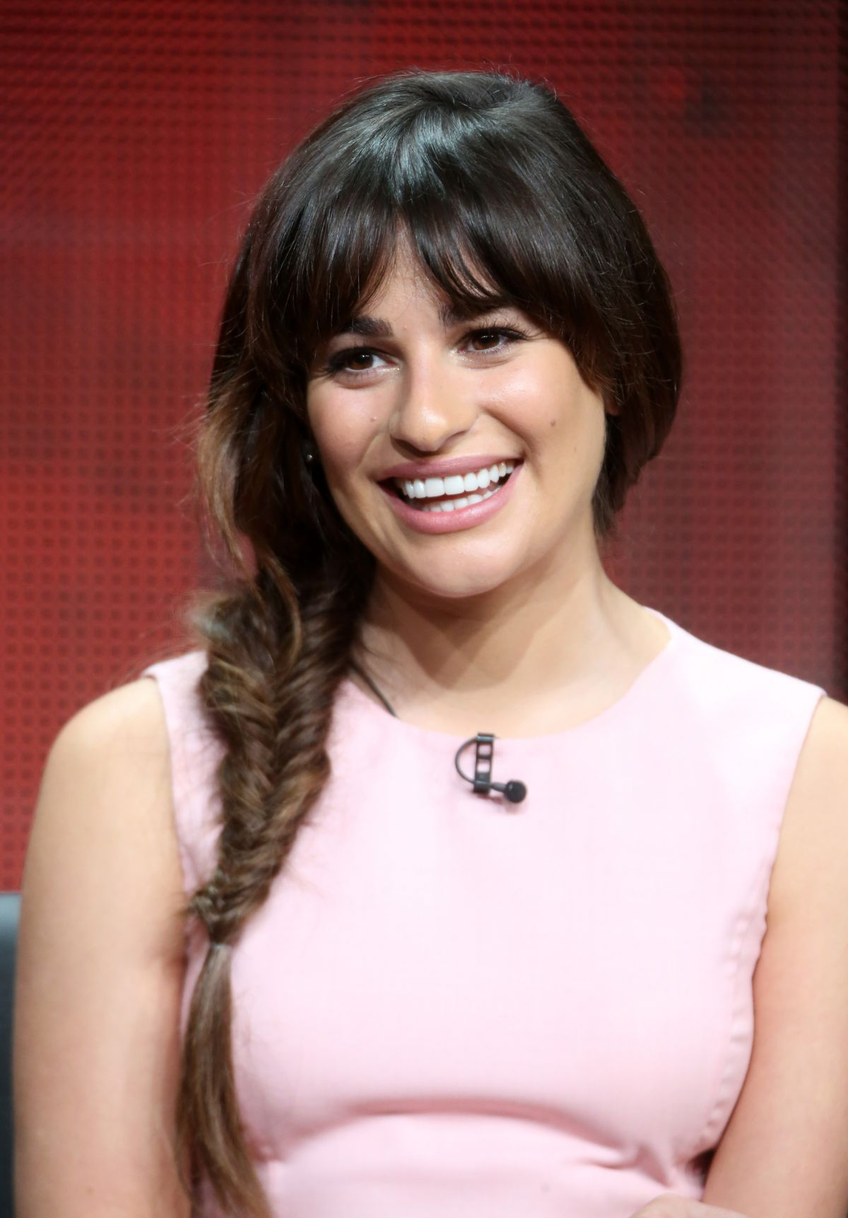 LEA MICHELE at Scream Queens Panel at 2015 Summer TCA Tour in Beverly Hills