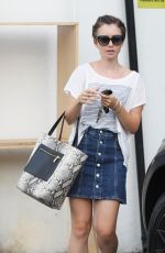 LILY COLLINS Out and About in Beverly Hills 08/25/2015