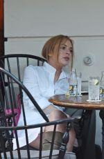 LINDSAY LOHAN at a Restaurant in London 08/12/2015