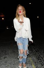 LINDSAY LOHAN at Chiltern Firehouse in London 08/10/2015