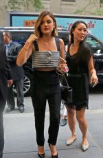 LUCY HALE Arrives at NBC Studios in New York 08/06/2015