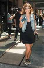 LUCY HALE Leaves Her Hotel in New York 08/07/2015
