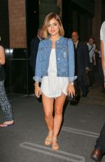 LUCY HALE Leves Her Hotel in New York 08/06/2015