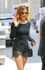 LUCY HALE Out and About in New York 08/06/2015
