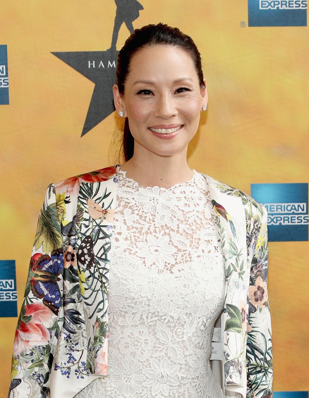 LUCY LIU at Hamilton Opening on Broadway in New York