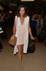 LUCY MECKLENBURGH Arrives at Euston Train Station in London 08/11/2015