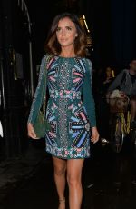 LUCY MECKLENBURGH Leaves Bulgari Hotel in London 08/19/2015
