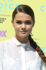 MAIA MITCHELL at 2015 Teen Choice Awards in Los Angeles