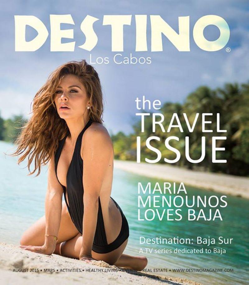 MARIA MENOUNOS in Destino Magazine, August 2015 Issue