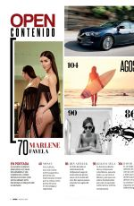MARLENA FAVELA in Open Magazine, Mexico August 2015 Issue