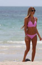 MELISSA CASTAGNOLI in Pink Bikini at a Beach in Miami