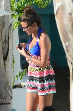 MICHELLE KEEGAN Out and About in Ibiza 08/28/2015