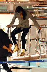 MICHELLE RODRIGUEZ Partying on a Boat in Ibiza 08/07/2015