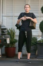 MILEY CYRUS Leaves Epione Cosmetic Laser Center in Beverly Hills 08/13/2015