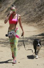 MILEY CYRUS Out Hiking in Hollywood Hills 08/29/2015