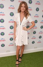 MILLIE MACKINTOSH and LAURA WHITMORE at Evian Live Young Suite on the Opening Day of Wimbledon in London