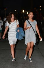 MINKA KELLY Arrives at Arclight Cinemas in Hollywood 08/13/2015