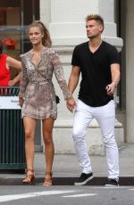 NINA AGDAL Out and About in New York 08/08/2015