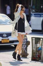 NINA DOBREV in Shorts Out in New York 08/13/2015