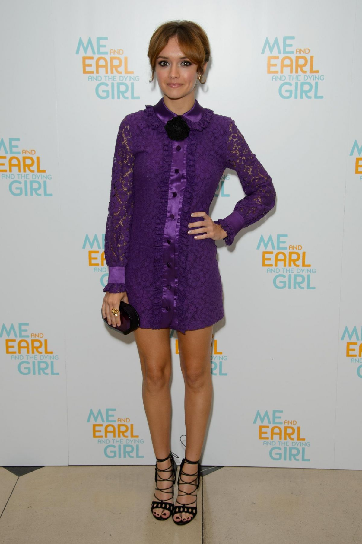 OLIVIA COOKE at Me and Earl and the Dying Girl Premiere in London
