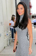 OLIVIA MUNN Arrives at The Daily Show with Jon Stewart in New York 08/06/2015