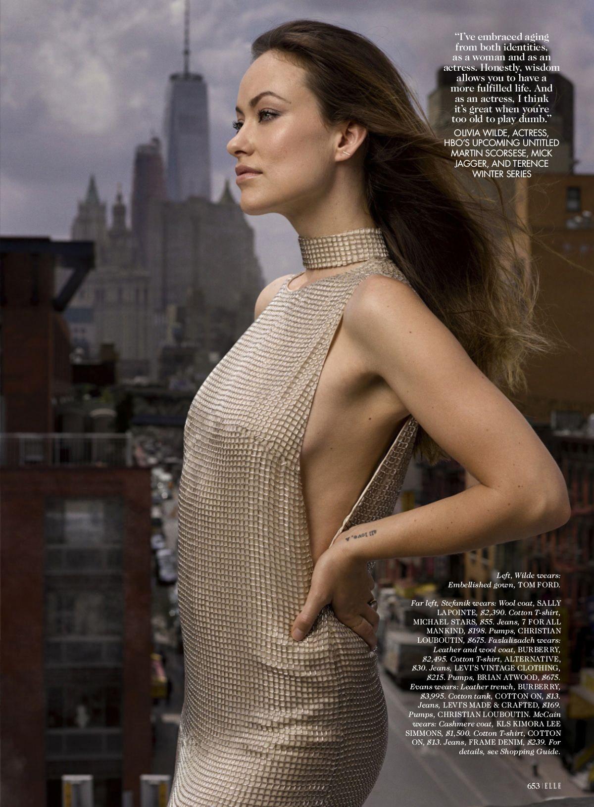 OLIVIA WILDE in Elle 30th Anniversary Portfolio, September 2015 Issue