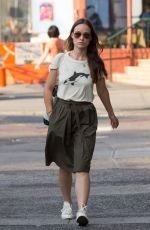 OLIVIA WILDE Out and About in New York 08/25/2015