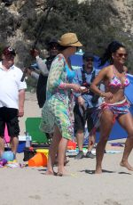 PAGET BREWSTER in Swimsuit on the Set of Grandfathered in Malibu 08/10/2015