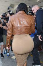 Pregnant KIM KARDASHIAN at LAX Airport in Los Angeles 08/03/2015