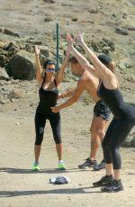 Pregnant KIM KARDASHIAN in Tights Workout at Vacationing in St. Barts 08/18/2015